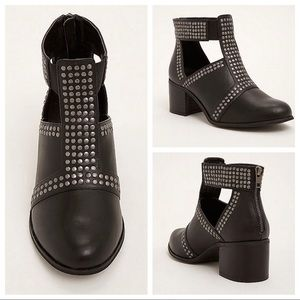 Torrid Black Studded Booties